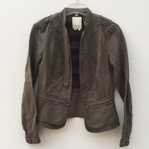 Elevenses Cropped Field Jacket Military Style 4